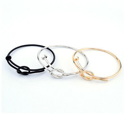 Fashion Men's Women's Stainless Steel Screw Nail Knot Bracelet Bangle New