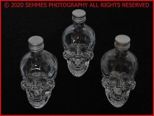 Dan-Aykroyd-039-s-Crystal-Head-Vodka-50ML-Empty-Glass-Skull-Mini-Bottle-2-Available