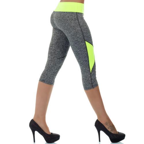 a32feca260285c Damenmode Leggings MALUCAS SPORTS Damen 3/4 Leggings Sommer Yoga Jogging  Workout Capri Neon Farben