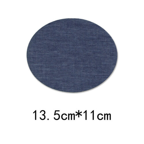 5//10PCS Iron-on Denim Jeans Patches Sewing Applique Elbow Knee Repair DIY Craft