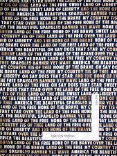 Patriotic Land Of the Free Words Cotton Fabric Robert Kaufman 4th On Farm - Yard
