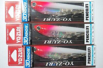 """yo zuri 3d inshore pencil walk the dog 4/"""" 1//2oz sardine r1209-ghiw"""