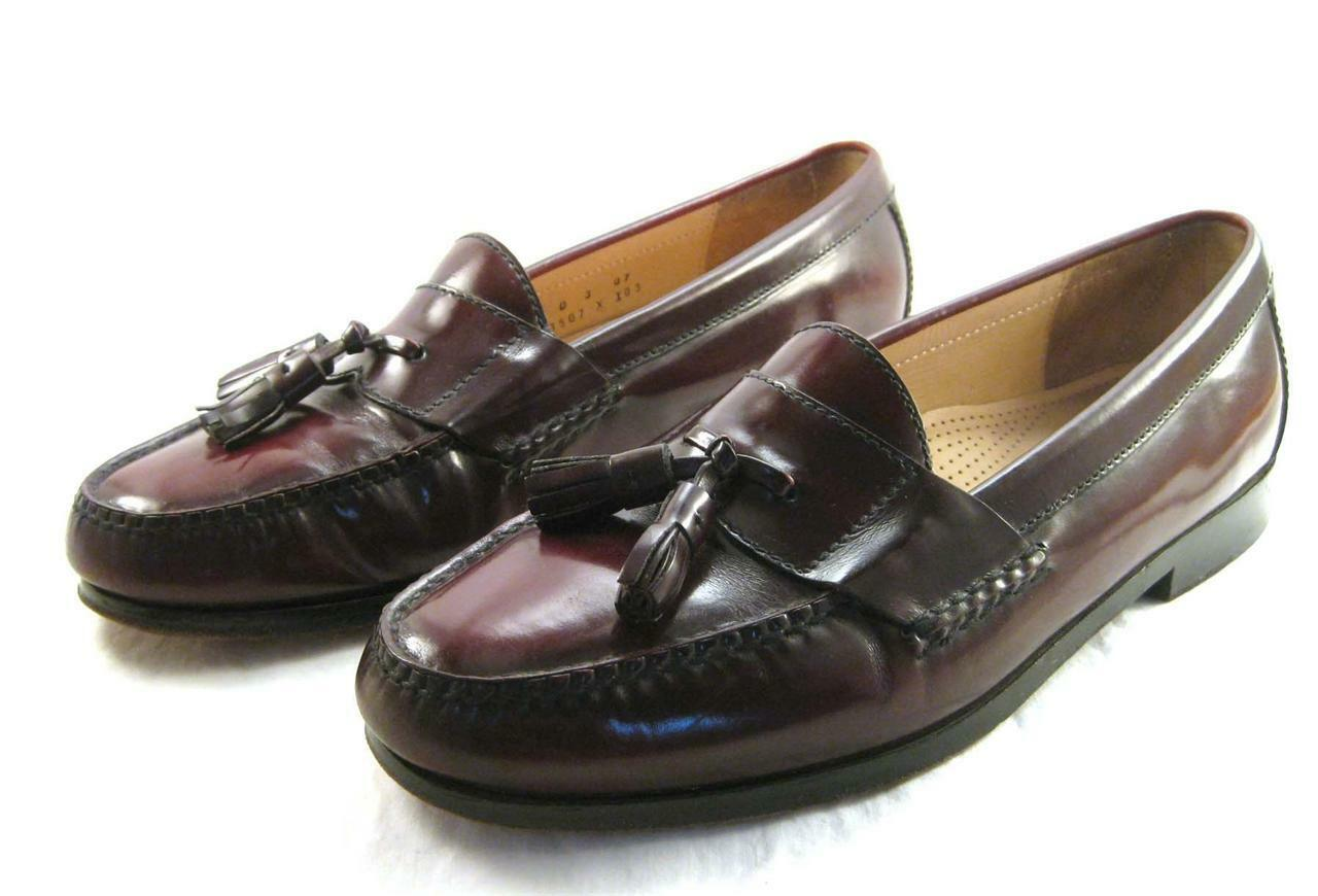 Cole Haan Leather City Tassel Brown Burgundy Leather Haan Loafers Men's Size 10 D 1ecaaa