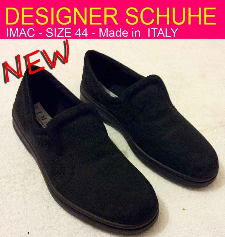 Designer Schuhe  IMAC Soft - Leder -  Made in Italy - Grosse 44 - NEU