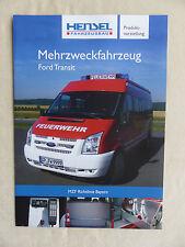 Hensel Feuerwehr Mehrzweckfahrzeug - Ford Transit - Prospekt Brochure 08.2011