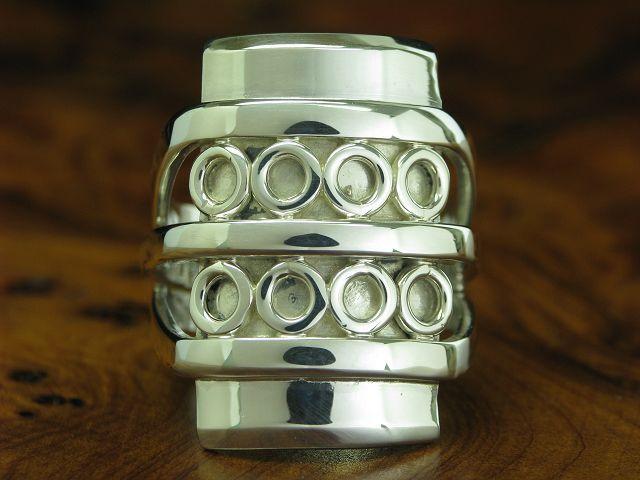 925 STERLING silver RING   BREITER RING   ECHTsilver   12,6g   RG 55