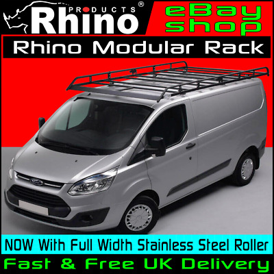 Van Roof Racks >> Lwb Low Roof Rhino Modular Van Roof Rack Roller Ford Transit Custom 2013 2019 Ebay