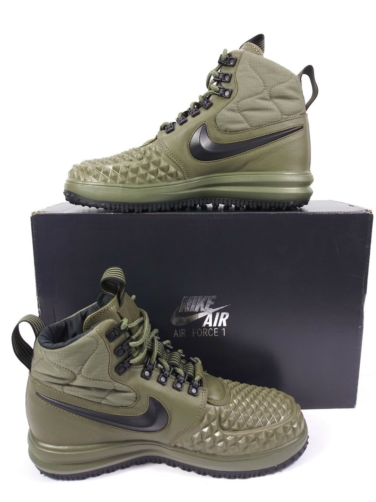 NEW Nike Lunar Air Force 1 Duckboot 17 Medium Olive Green LF1 916682-202 SZ 8.5
