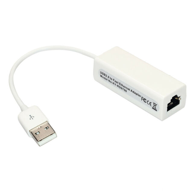 Hot White USB2.0 Male to RJ45 Ethernet Lan Network Adapter Dongle 10/100 Mbps