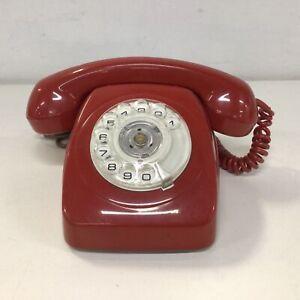 Vintage. Telcom Red Manual Dial Plastic Telephone #922