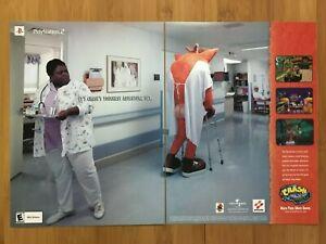 Crash-Nasenbeutler-der-Zorn-des-Cortex-ps2-Xbox-2001-Printanzeige-Poster-Official-Art