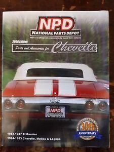 Details about National Parts Depot 2006 Catalog - Parts & Accessories  1964-1983 Chevelle MORE