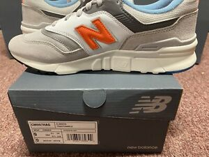 New-Balance-997-Mens-Running-Shoes-Gray-Orange-White-CM997HAG-Size-9