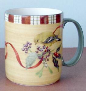 Lenox winter greetings everyday mug goldfinch bird motif new ebay image is loading lenox winter greetings everyday mug goldfinch bird motif m4hsunfo