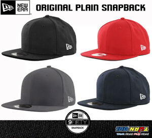 Image is loading New-Era-9Fifty-Plain-Blank-Snapback-Hat-Original- 4606349a258