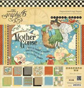 "GRAPHIC 45 ""MOTHER GOOSE"" 12X12 PAPER PAD NURSERY CHILD BABY SCRAPJACK'S PLACE"
