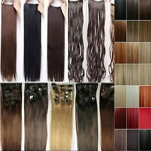 cheap best quality clip on hair extensions 3 4 full head
