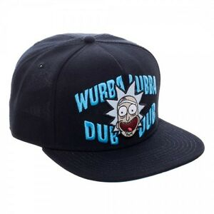 2944117b512 Rick and Morty Wubba Lubba Dub Dub Snapback Hat Cap Officially ...