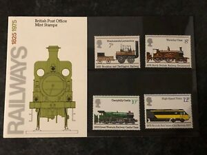 1975 GB Royal Mail Presentation Pack  Railways 1825 1975  Pack 72 - York, United Kingdom - 1975 GB Royal Mail Presentation Pack  Railways 1825 1975  Pack 72 - York, United Kingdom