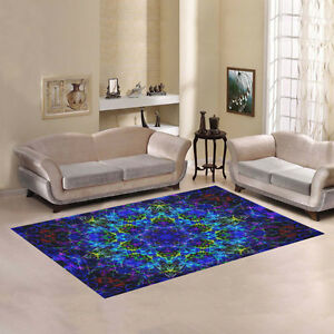 Image Is Loading Home Decorator Area Rug Trippy Psychedelic Polyester Floor