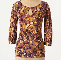 Postmark Traced Teardrops Pullover Top Sizes Xs, S Purple Nw Anthropologie Tag