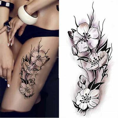 3x une fois-Tatouages étanche tatouage Body Sticker Corps Peau Autocollant Bras