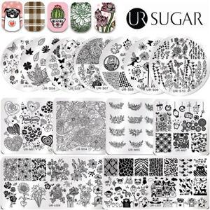 Nail-Art-Image-Stamping-Templates-Stamp-Plates-Love-Heart-UR-SUGAR-DIY