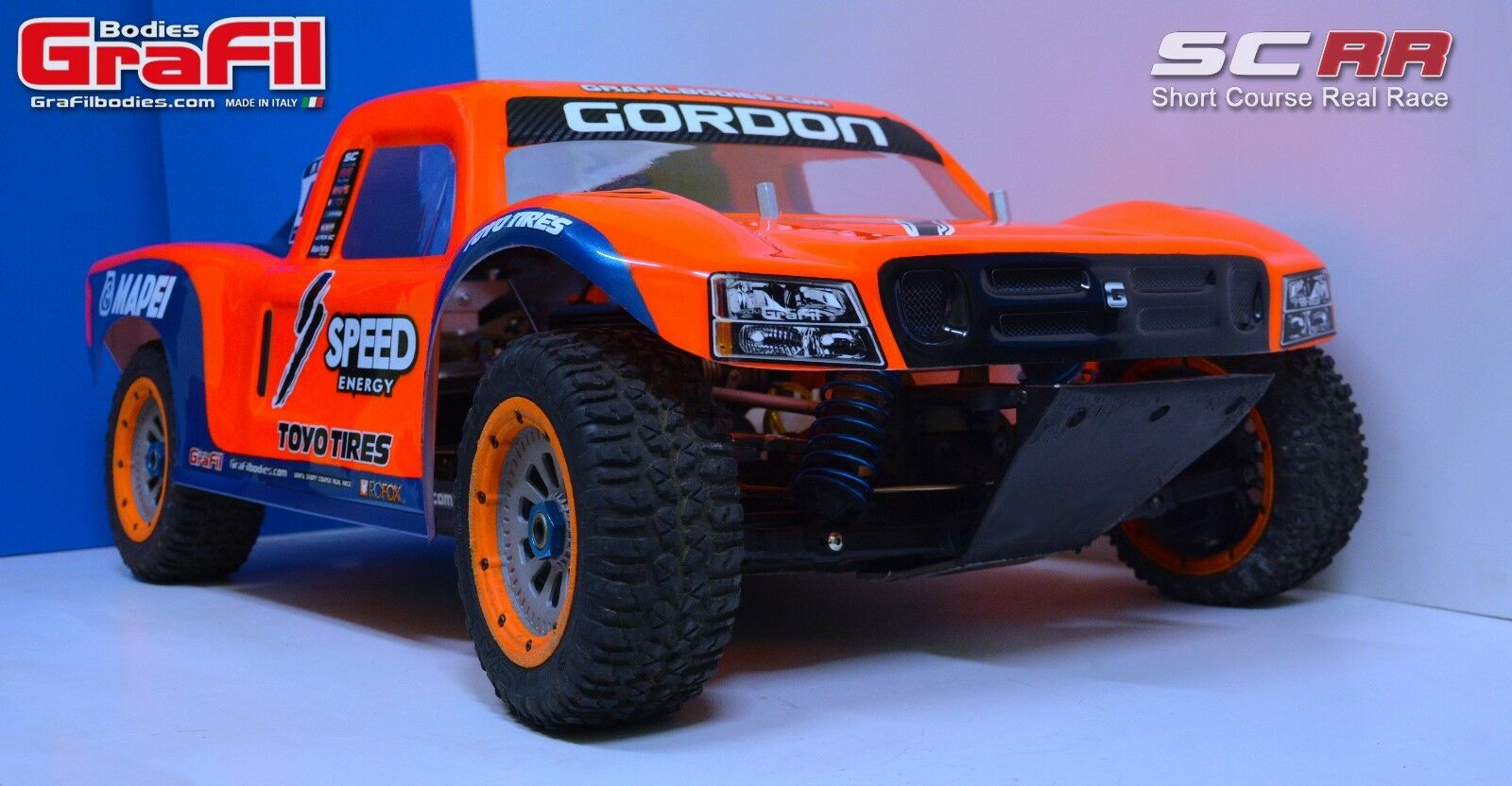 Losi 5ive T body - name  SCRR - 1 piece clear 1 5 body - made by GraFil Bodies