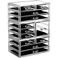 Ikee Design Acrylic Jewelry Makeup Organizer Cosmetic Storage