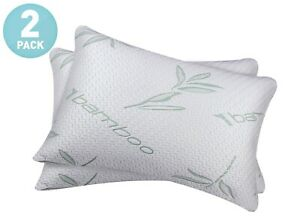 2-Pack-Bamboo-Shredded-Memory-Foam-Hypoallergenic-Pain-Relief-Comfort-Pillows