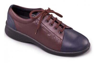 Padders Refresh 2 en Cuir Avec Extra Large Plus EEE//EEEE Chaussures Bleu Marine//Bordeaux