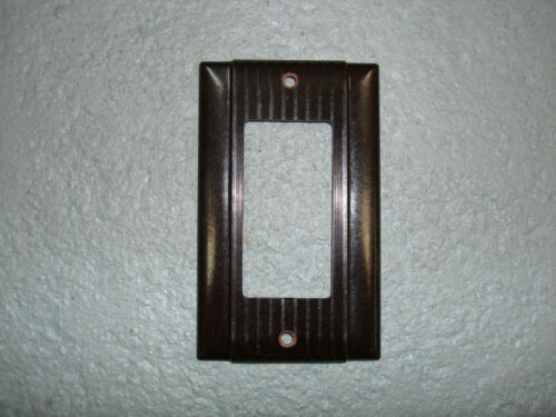 P/&S Ribbed Vintage Uniline Brown Decora GFCI Switch Outlet Cover Plate Bryant