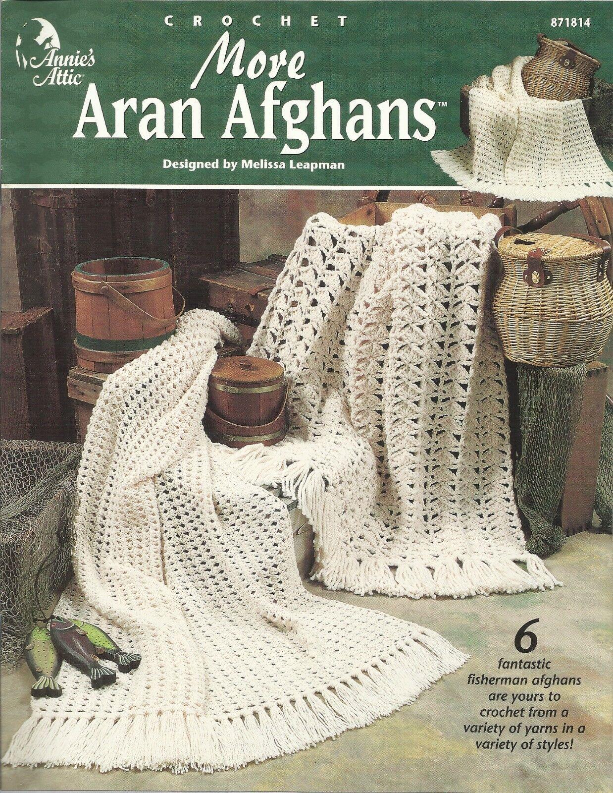 More Aran Afghans 6 Crochet Patterns Melissa Leapman Annie\'s Attic ...