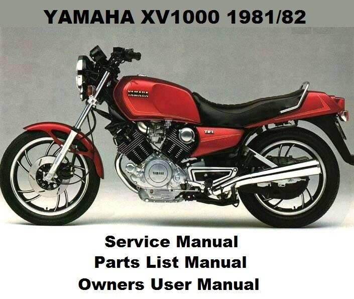 YAMAHA XV1000 Service Repair Parts Owners User Manual PDF on CD-R XV 1000  TR1