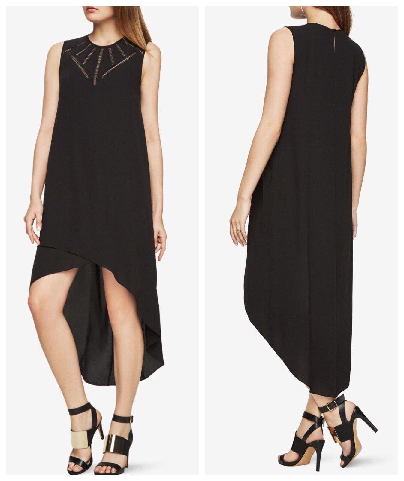 298new  Damen Bcbg Mackenna Bestickt Hoch-Tief Kleid GRÖSSE S Asymmetrischer