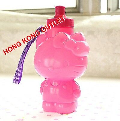 Hello Kitty Diecut Drink Water Bottle with Pop Up Cap  Sanrio Red Pink A63a