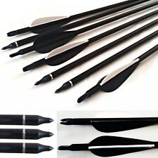 10 Fibreglass CARBON GRADE Archery Arrows broadhead compatible with on/off tip