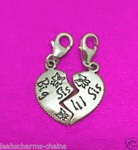 clip-on-BIG-SIS-LIL-SIS-CHARM-HEART-2-IN-1-CHARMS-925-STERLING-SILVER-Thomas