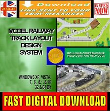 Design Build Model Railway Track Layout Plans Cad Software Hornby Oo Guage For Sale Online Ebay