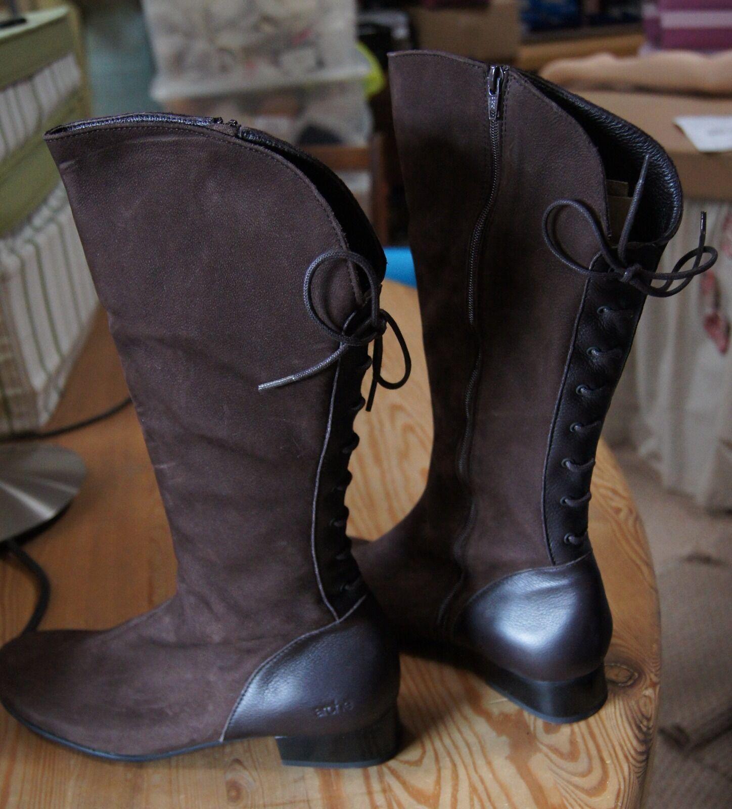 Arche Arche Arche Vero Café Knee hög klacked Boot mocka och läder.  försäljning online rabatt lågt pris