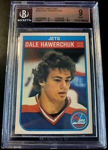 1982-83 O-Pee-Chee #380 Dale Hawerchuk Graded 9 Winnipeg Jets BGS OPC SP 10 PSA