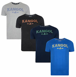Kangol New Men/'s Printed Slim Fit T-Shirt Branded Logo Print Top S M L XL