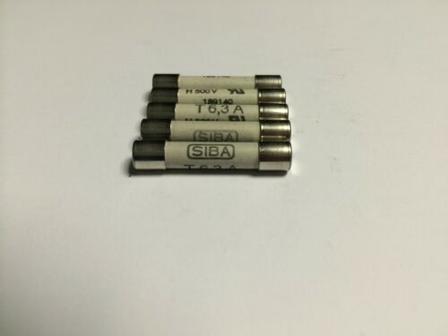 SIBA Fuse Time Lag 6.3A 70-065-65  T6.3A 500V typ 189140 JPSF056 Pack of 1//5//10