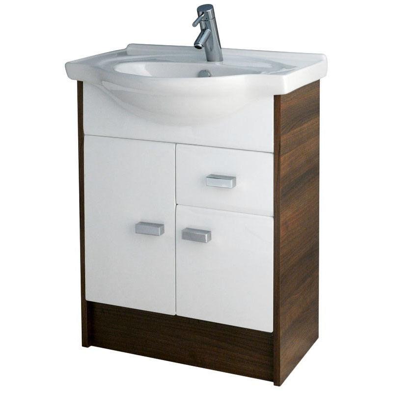 Muebles De Corte De Baño Cg 550mm blancoo nogal Gabinete de vanidad Cuenca Cajón Unidad