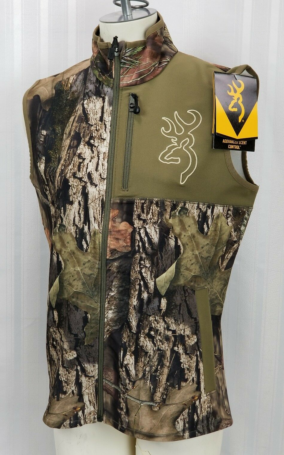 Browning Womens Large Hells Canyon Mercury Hunting Vest Scent Control Mossy Oak