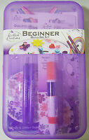 Quilled Creations Beginner Quilling Box Kit Paper Strips Sizer Slotted Tools