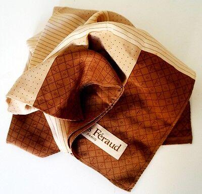 Bellissimo Vintage Louis Feraud Parigi Molto Morbido 100% Sciarpa Di Seta-mostra Il Titolo Originale