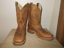 Mens 11 1/2 D Square Toe Roper Western Cowboy Boots New USA