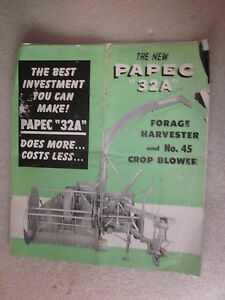 Papec 32 Forage Harvester /& Crop Blower Dealer/'s Brochure DCPA5