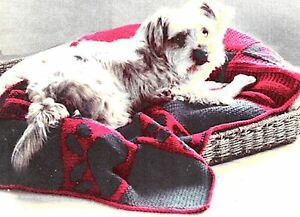 Free Knitting Pattern Dog Blanket : KNITTING PATTERN DOG BLANKET CHUNKY WOOL eBay